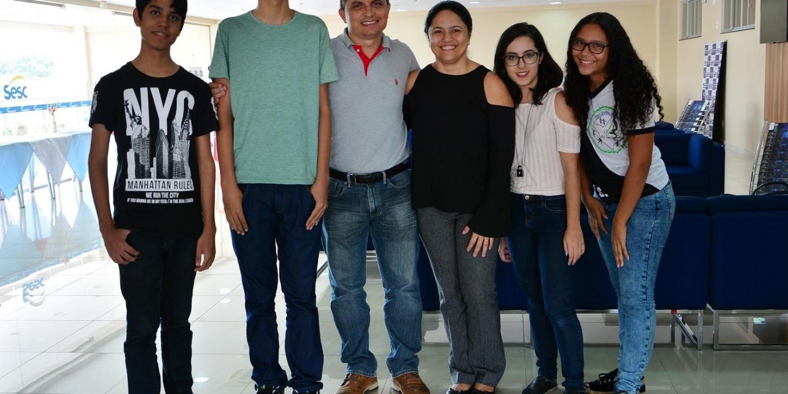 Almoço com os novos estudantes da Escola Sesc de Ensino Medio - 2018