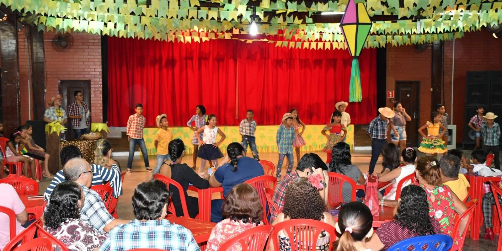 Festa Junina das atividades do Programa de Comprometimento e Gratuidade – PCG e do grupo de idosos Alegria de Viver