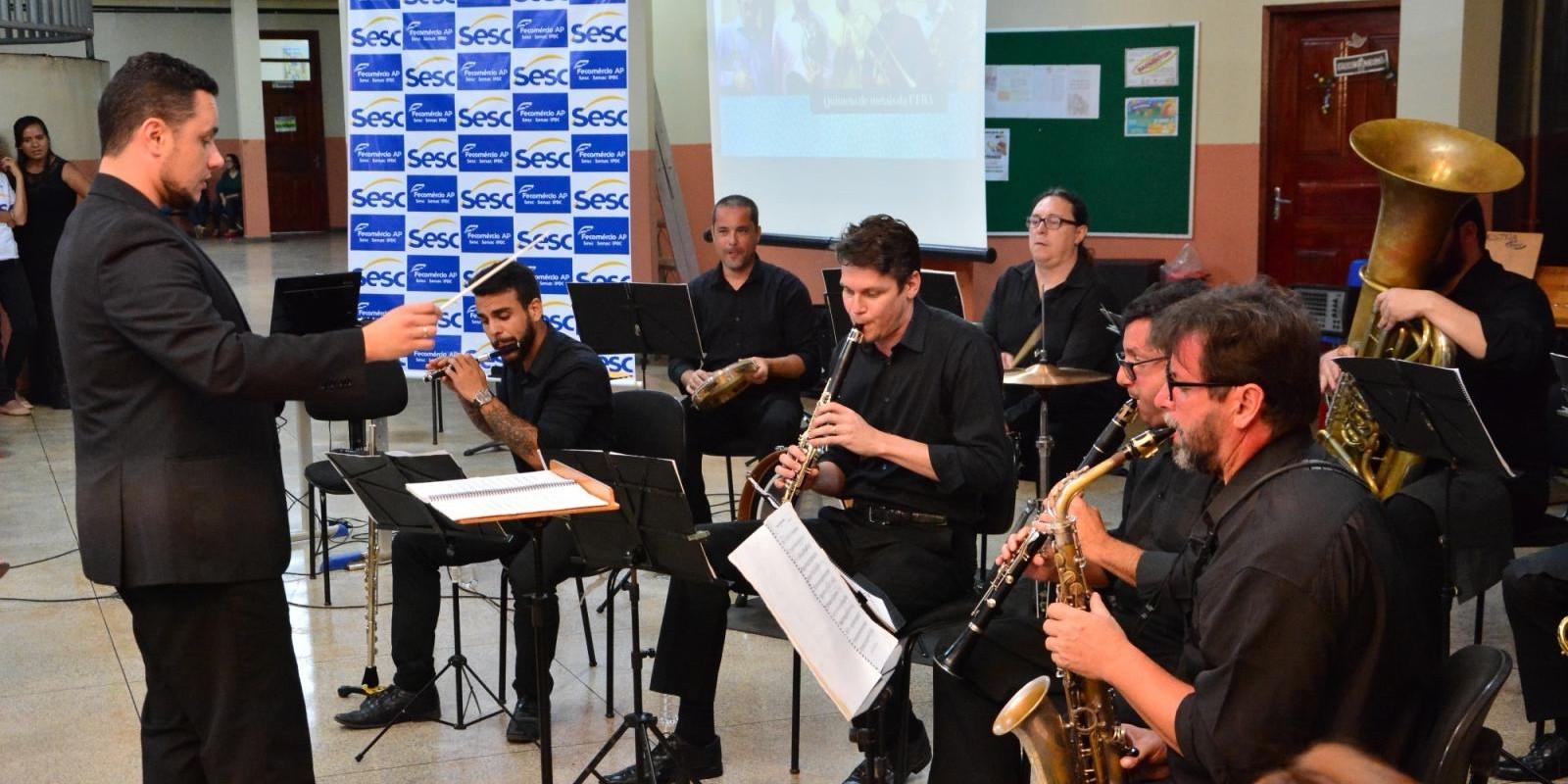 Projeto Sonora Brasil 2018 na Escola Risalva Freitas do Amaral