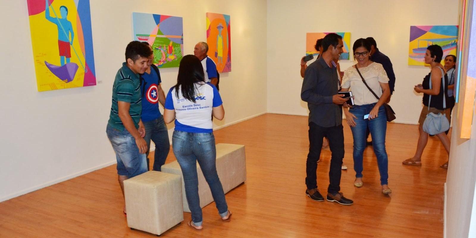 """Vernissage da exposição """"Minhas Águas Tucuju"""""""