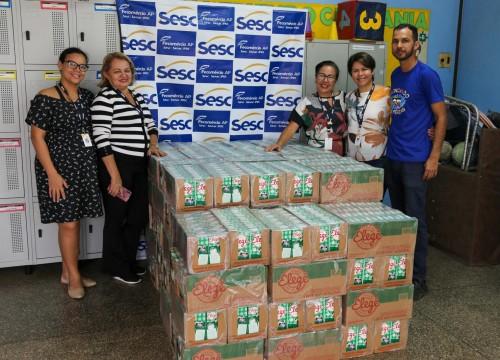 Doação Subway para o Mesa Brasil