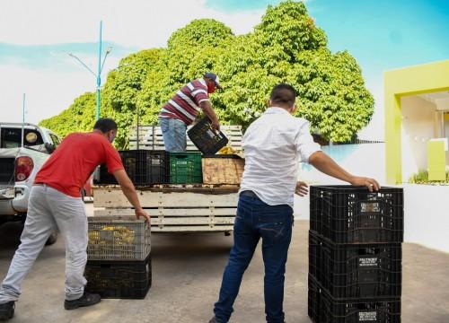 Ação Mesa Brasil - Entrega de hortifrúti