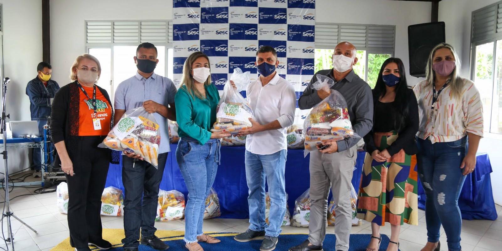 Ação Mesa Brasil - Entrega de cestas básicas nos municípios de Santana, Mazagão, Amapá e Tartarugalzinho
