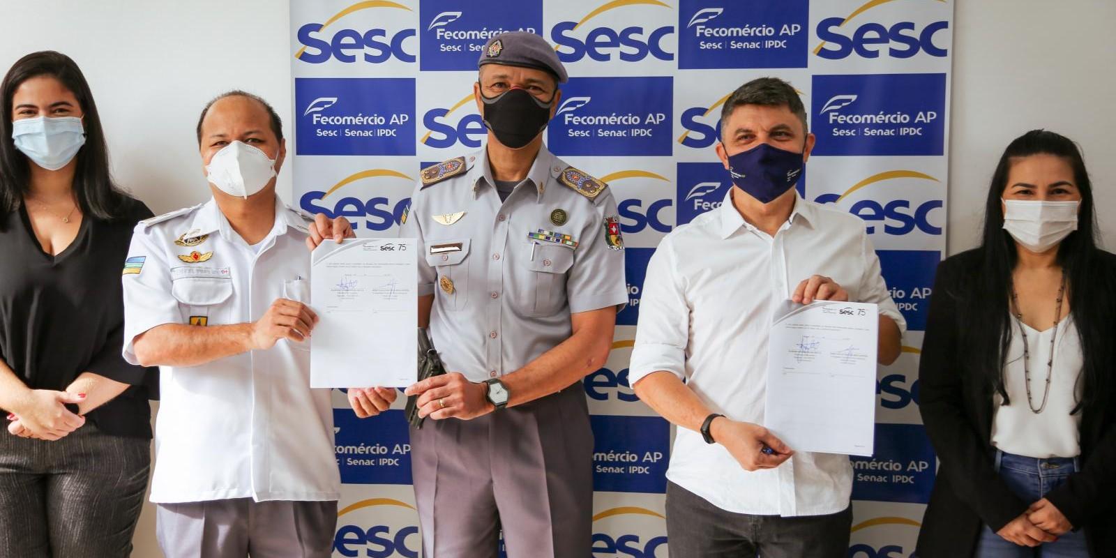 Sesc Amapá e PM/AP assinam convênio para cessão de espaço odontológico