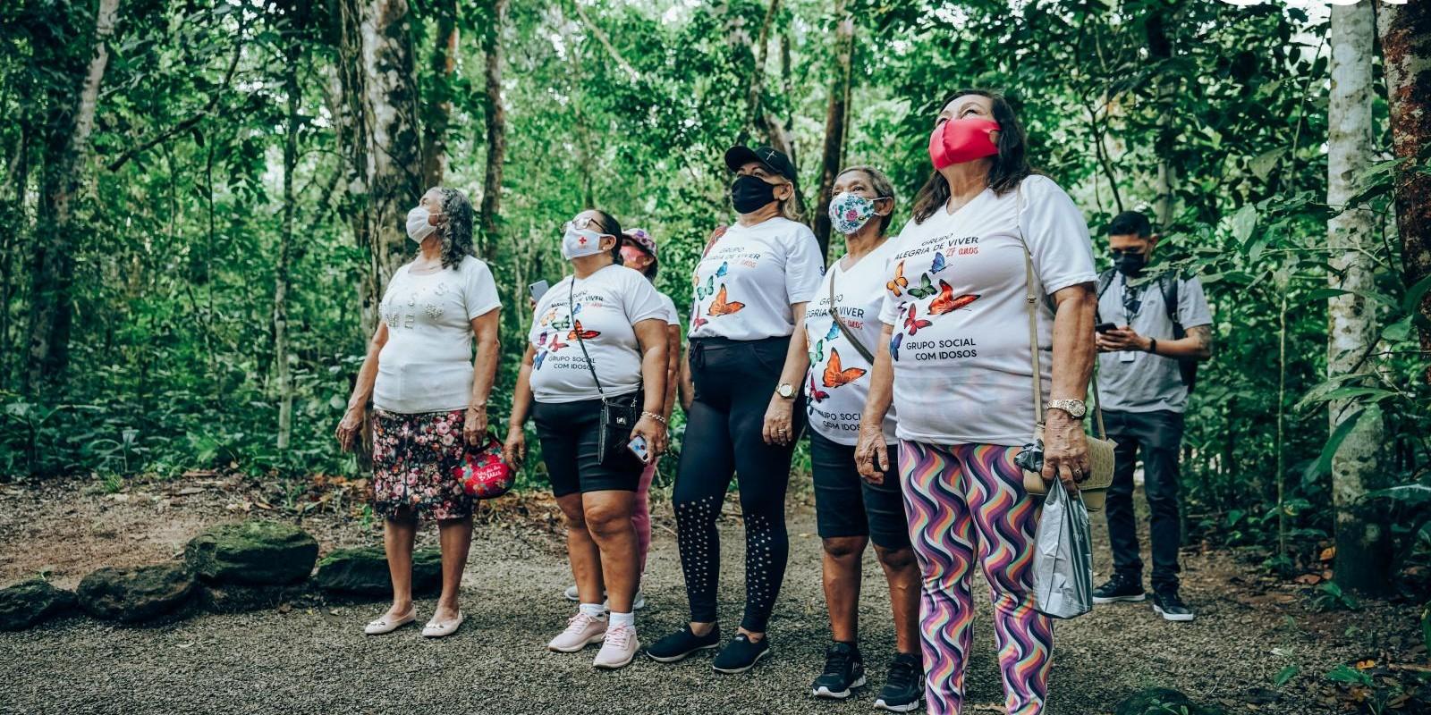 Passeio com Grupo Alegria de Viver (TSI - Trabalho Social com Idosos) no Bioparque da Amazônia