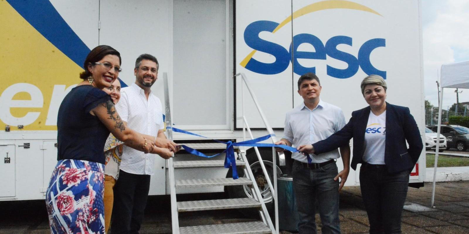 Unidade móvel Sesc Saúde Mulher é inaugurada em Macapá