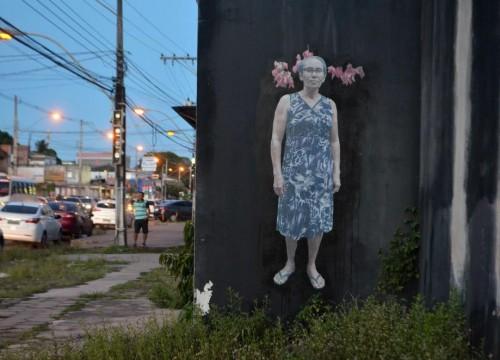 """Intervenção Urbana """"Existência"""" - Projeto Sesc Amazônia das Artes"""