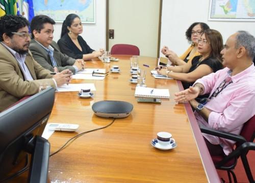 Diretores do SESC e SENAC AP alinham cooperação técnica com a Coordenadoria Estadual da Infância e Juventude do TJAP