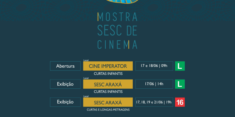 Sesc AP realiza a 2ª edição da Mostra Sesc de Cinema com a apresentação de curtas e longas-metragens de todas as regiões do Brasil.