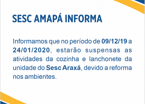 Sesc Amapá Informa