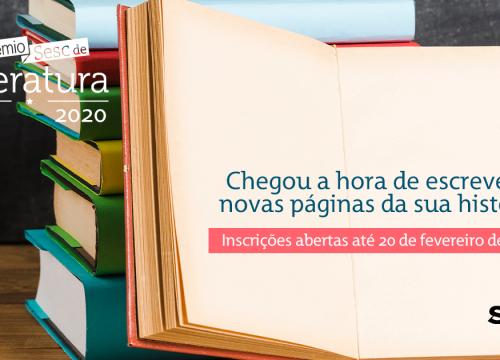 Prêmio Sesc de Literatura abre inscrições para edição 2020