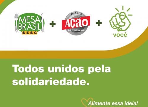 Sesc e Ação da Cidadania se unem e criam a maior iniciativa de distribuição de alimentos da América Latina