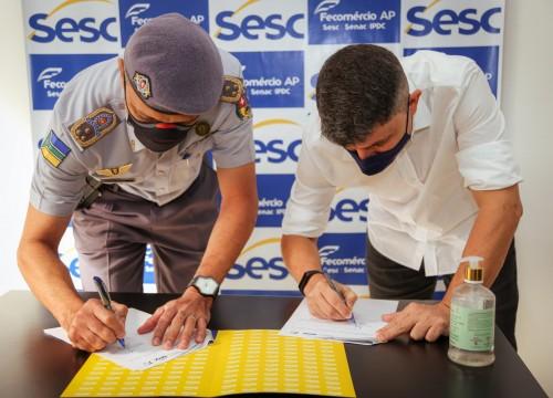 Mais qualidade de vida para os policiais militares com nova parceria com o Sesc/AP