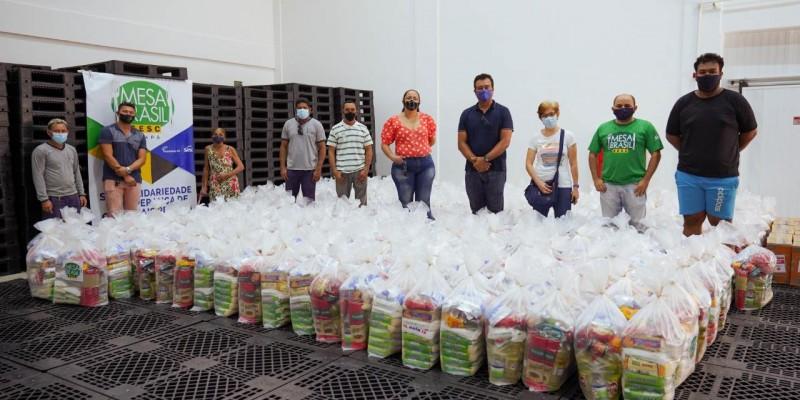 Repasses da campanha nacional Mesa Brasil Urgente são convertidos em 400 cestas básicas