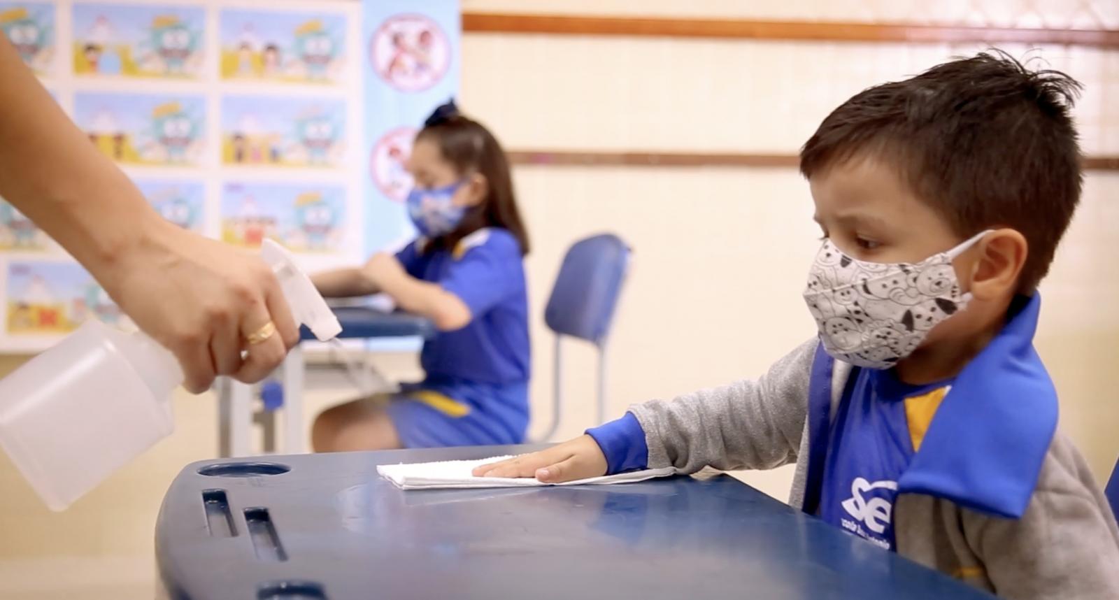 Escola Sesc retoma aulas da Educação Infantil com rodízio de alunos