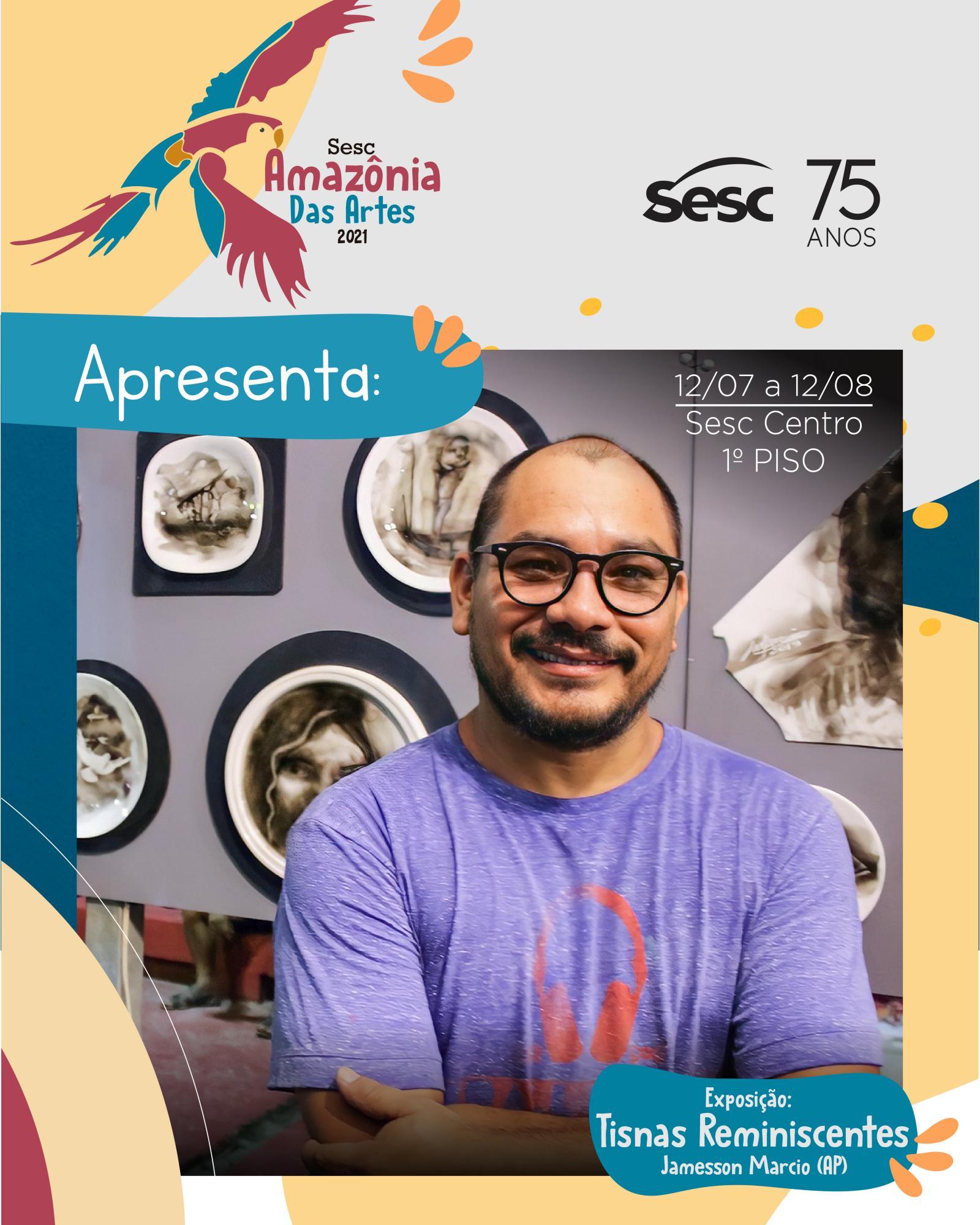 Amapaense J. Márcio leva ao Sesc Amazônia das Artes exposição de pintura com fumaça