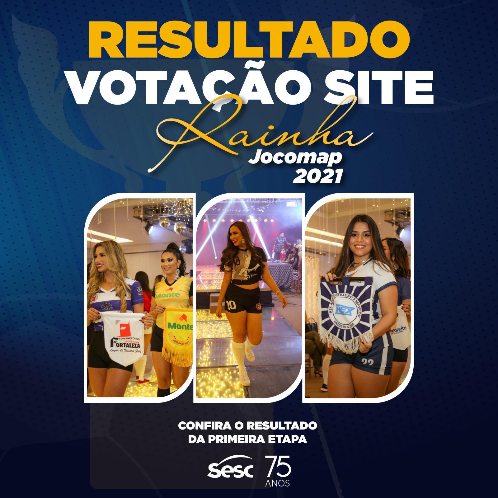 Confira o Resultado da Primeira Etapa - Votação Rainha Jocomap 2021